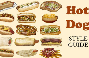 An Infographic Showing How Hot Dogs Are Eaten Around The World
