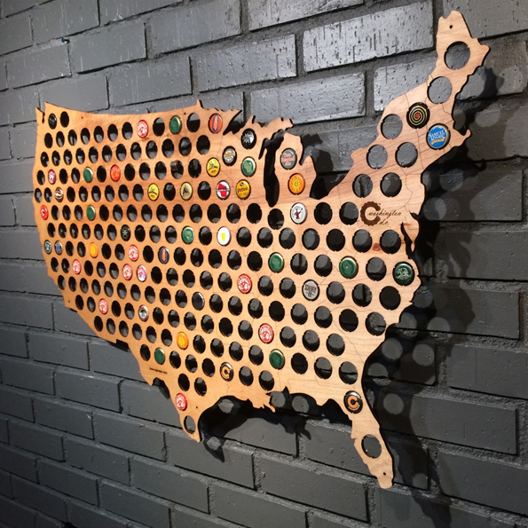 Collect & Display Your Bottle Caps With The Beer Cap Map