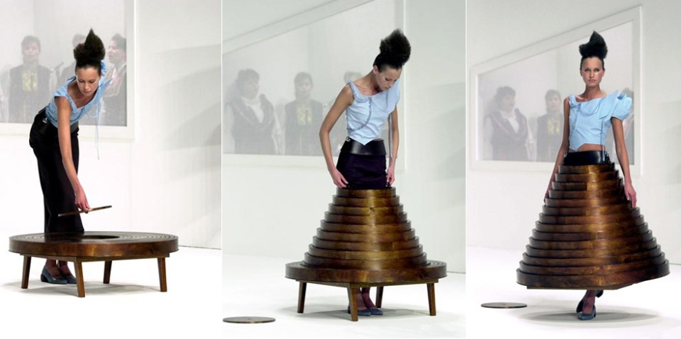 Furniture Meets Fashion With A Table That Doubles As A Skirt