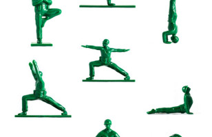 Yoga Joes: Little Green Army Men Performing Yoga Poses