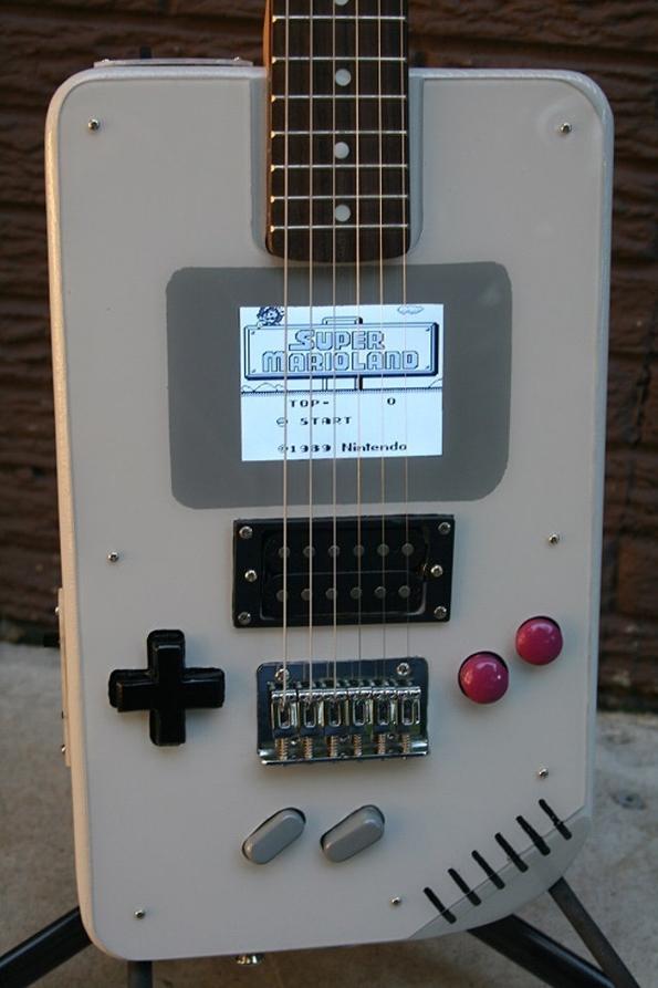 one guy built a game boy electric guitar. Black Bedroom Furniture Sets. Home Design Ideas