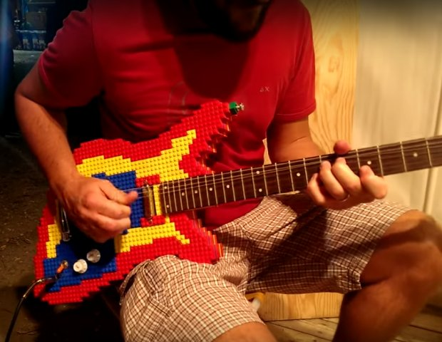 Now You Can Rock Out With Your Block Out Using This LEGO Guitar