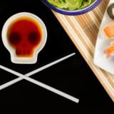 Skull Soy Dish & Chopsticks