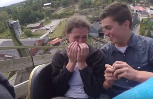 This Roller Coaster Proposal Is The Sweetest Thing