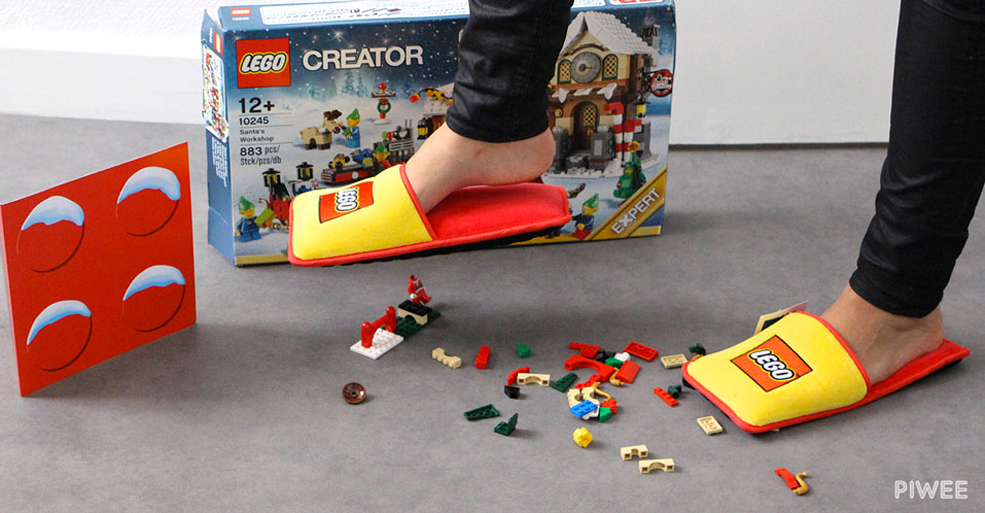These LEGO Slippers Ensure You Never Step On A Brick Again