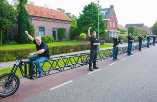 The World's Longest Bicycle Measures Over 100 Feet