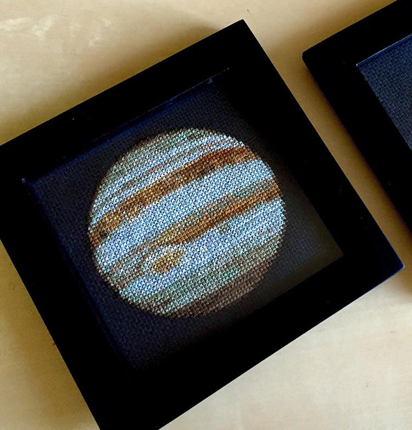 These Cross-Stitch Planets Are Perfect For Crafty Space Lovers