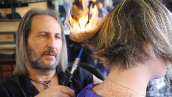 This Stylist Uses Blowtorches Swords Amp Talons To Cut Hair
