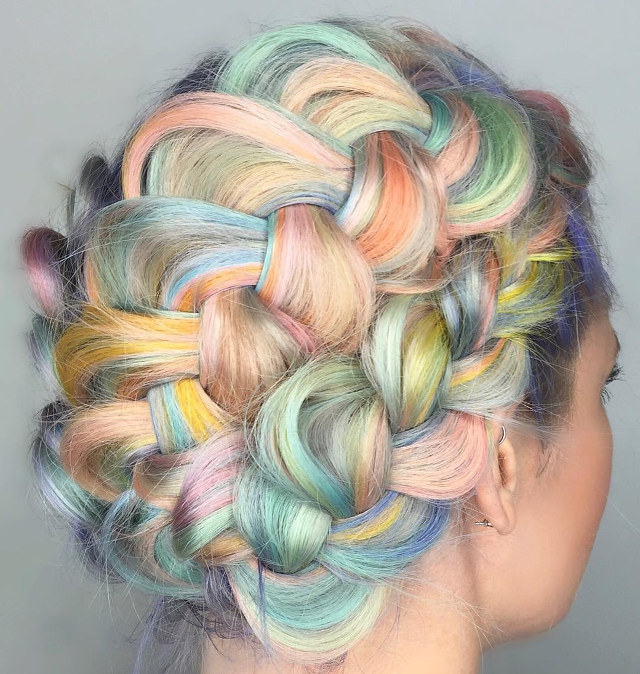 Unicorn Rainbow Braids The Prettiest Hair In All The Land