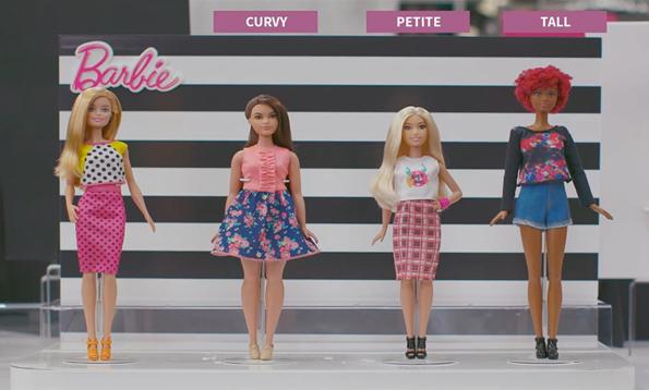 Mattel Announces That Barbie Has Three New Body Types