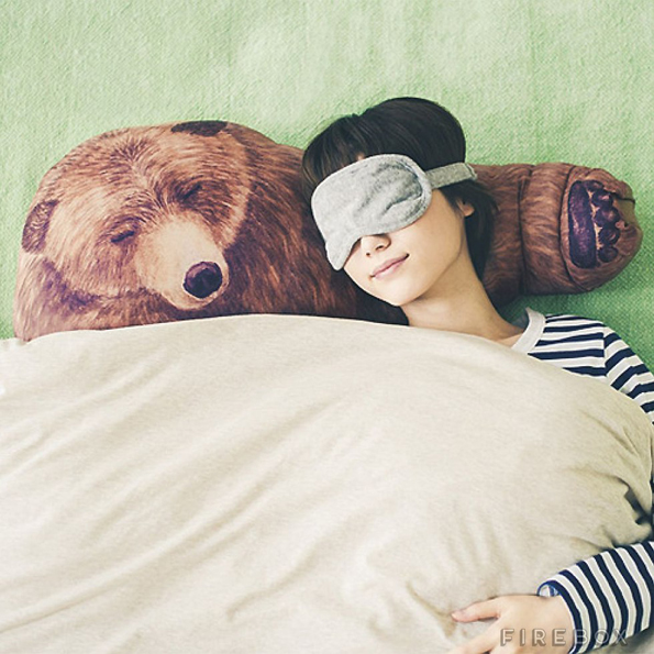 Get A Nice Cozy Faux Bear Hug From This Lifelike Bear Pillow