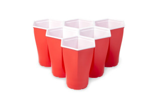 A New Hexagonal Beer Pong Cup Is A Real Game Changer