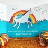 Evil Unicorn Glitter Card