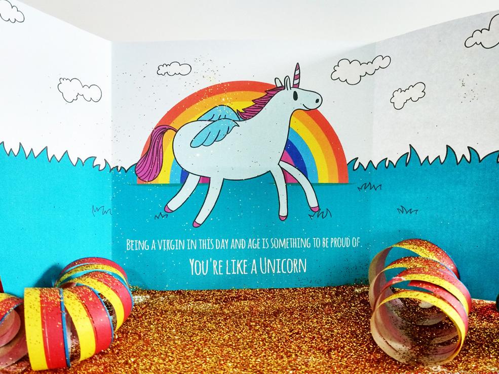Send A Unicorn Card Full Of Glitter Because You're Evil