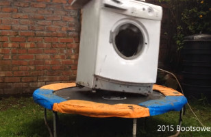Why The Hell Not?: A Washing Machine On A Trampoline