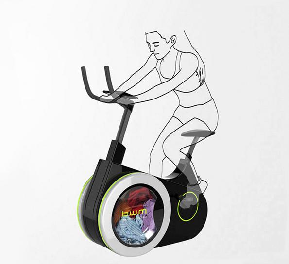BiWa Is An Exercise Bike And Washing Machine In One!