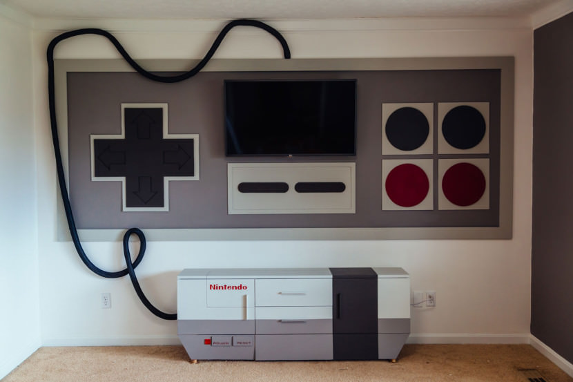 Nintendo home entertainment system is perfect for gamers for Decoracion gamer