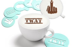 These Pervy, Rude Stencils Make Your Latte Art Super Crass