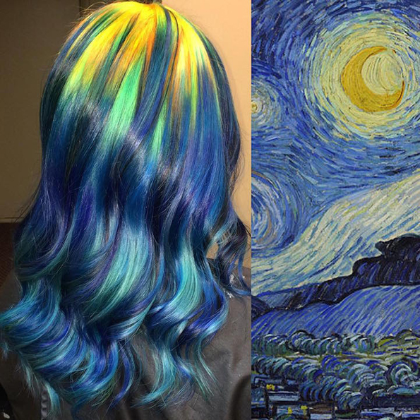 This Hairstylist's Hair Color Is Inspired By Classical Paintings