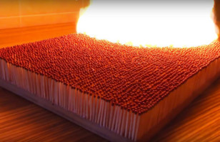 6,000 Matches Being Lit At Once Is Something To Behold