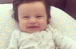 This Baby Born With A Full Head Of Hair Is Absolutely Hilarious