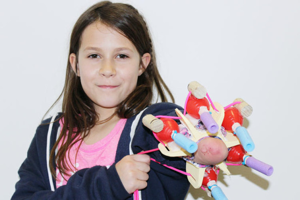 One 10-Year-Old Girl Invented A Prosthetic That Shoots Glitter!