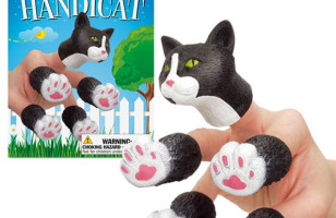 Turn Your Hand Into A Kitty With The Handicat Finger Puppet