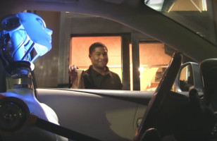 """Oh Yes, The Old """"Robot Driving Through A Drive Thru"""" Prank"""