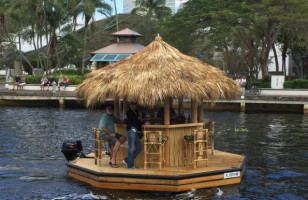 Go Ahead And Add This Tiki Bar Boat To All Of Your Wishlists
