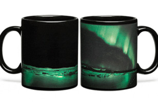 Check Out This Aurora Borealis Heat Changing Coffee Mug