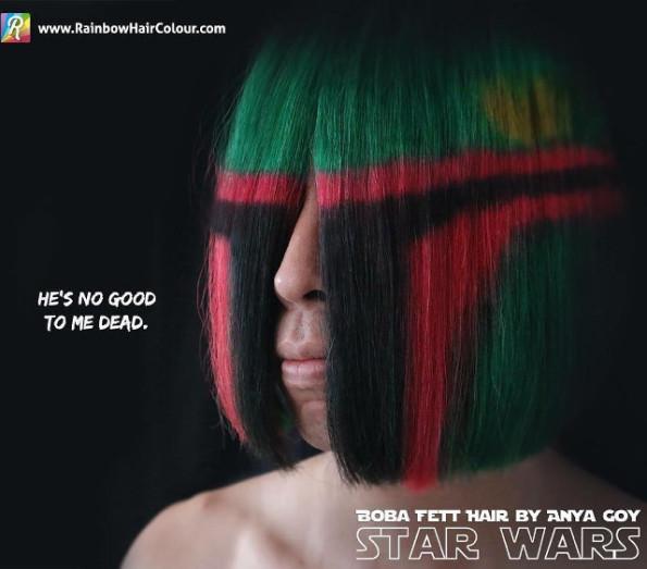 Check Out This Awesome Boba Fett Helmet Hair Dye Job