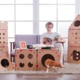 Customizable Cardboard Cat Houses