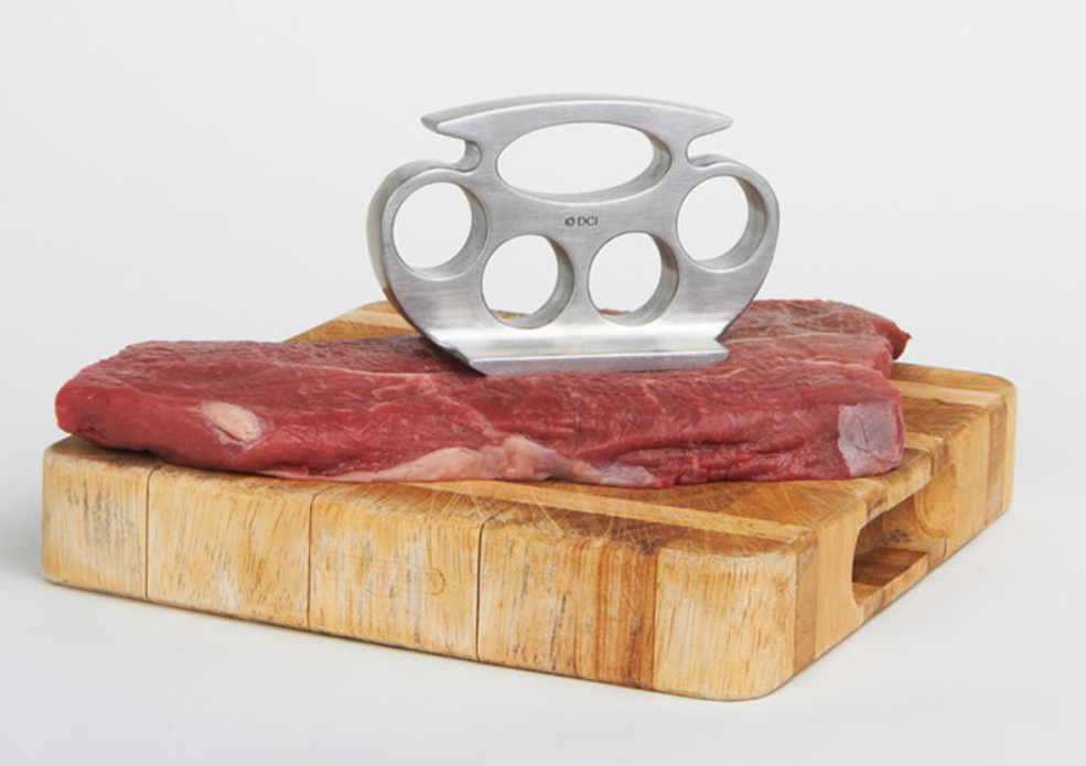 Brass Knuckles Meat Tenderizer Shows Dinner Who's Boss