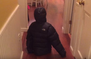 A Little Girl Walking Around In Her Mom's Coat Is Hilarious