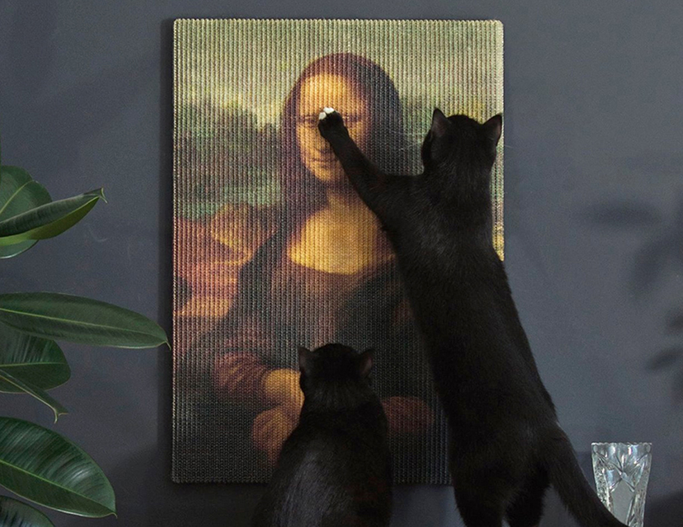 Masterpiece Cat Scratching Posts Let Your Kitty Claw The Mona Lisa