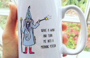 "This Hilarious ""Wave A Wand And Turn Me Into A Morning Person"" Mug Speaks For All Of Us"