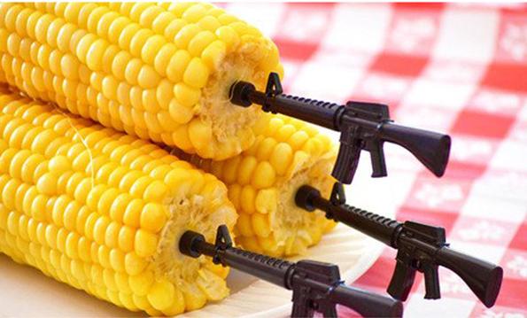 People Who Like Corn And Guns Will Like Gun Corn Holders