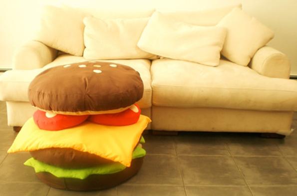 Stackable Hamburger Cushions Look Good Enough To Eat