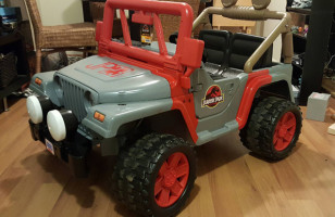 A Barbie Power Wheels Turned Into A Jurassic Park Jeep
