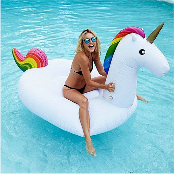 The Giant Inflatable Unicorn Pool Float Of Your Dreams