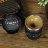 Self-Stirring Camera Lens Coffee Mug
