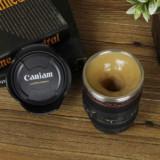 Self-Stirring Camera Lens Coffee Mug