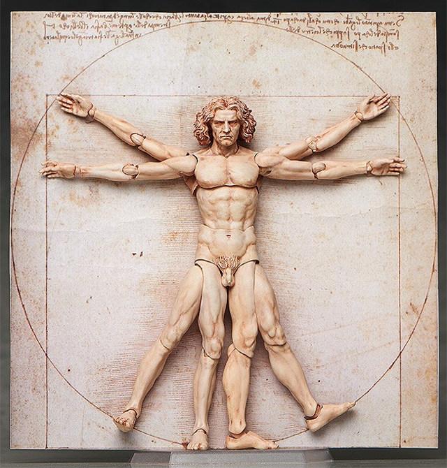 Leonardo da Vinci's Vitruvian Man Action Figure Because Why Not?