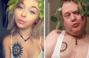 See How One Hilarious Dad Recreates His Daughter's Selfies