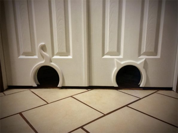 Your doors and your cats both desperately need the kitty pass - The kitty pass interior cat door ...