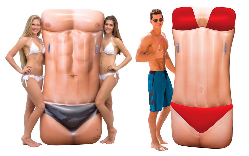 Bikini Babe And Macho Man Pool Floats Are Ridiculous