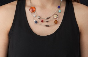 Space Lovers Will Like This Pretty Solar System Necklace