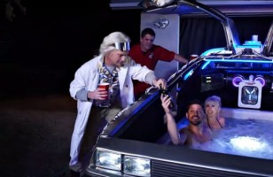 The DeLorean Hot Tub Time Machine Exists And It's Epic