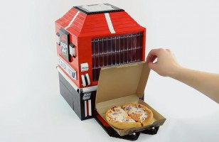 LEGO Pizza Hut Vending Machine Actually Dispenses Pizza
