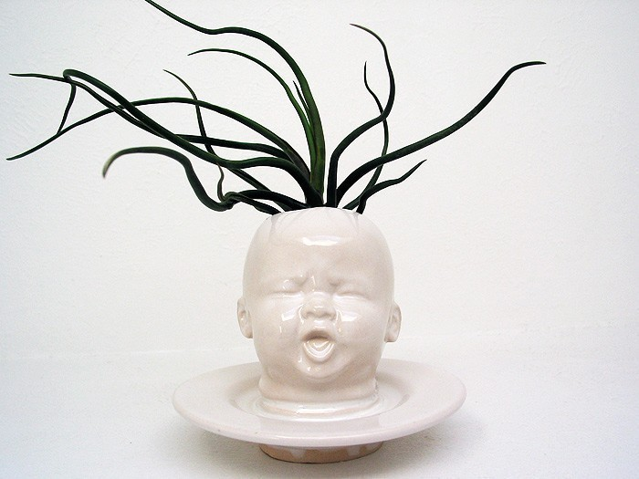 A Baby Head Planter Vase Because Why The Heck Not